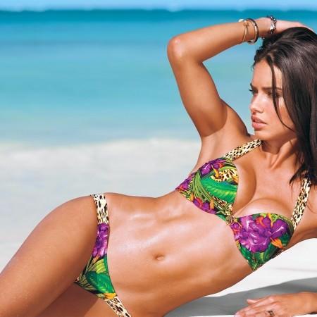 Adriana Lima in Bikini on the Beach, Victoria Secret-1