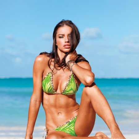 Adriana Lima in Bikini on the Beach, Victoria Secret