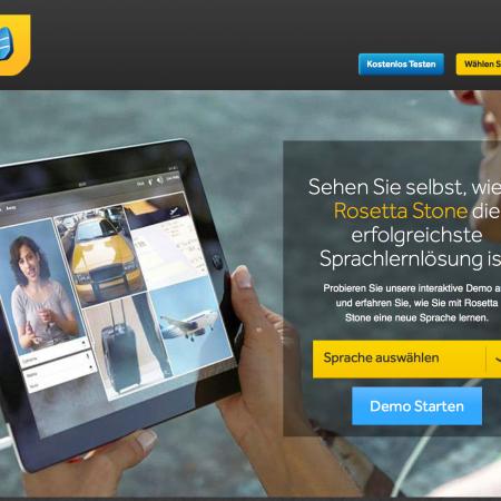 Rosetta-Stone-Sprachkurs-Homepage