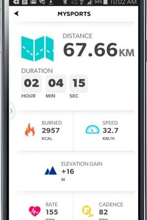 TomTom MySports Android... Aktivitätendetails