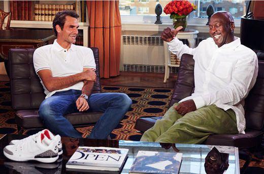 best value large discount recognized brands Roger Federer & Michael Jordan entwerfen Tennisschuh für Nike