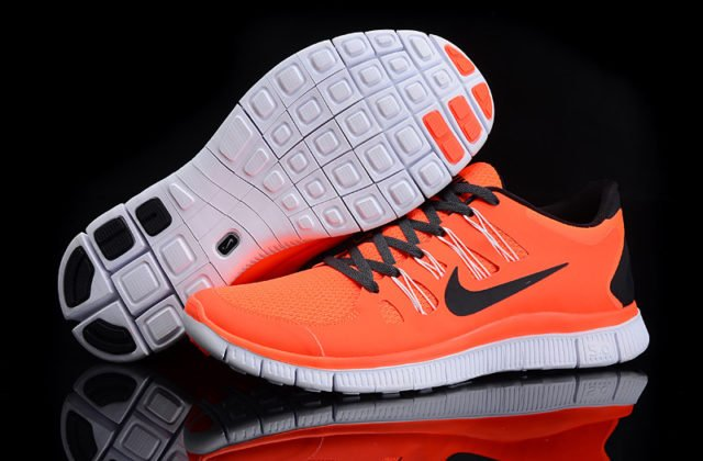 Nike-Free-5-0-Orange-Black-Mens-Shoes-Laufschuh