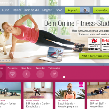 FitnessRaum-Online-Fitnessstudio-Homepage