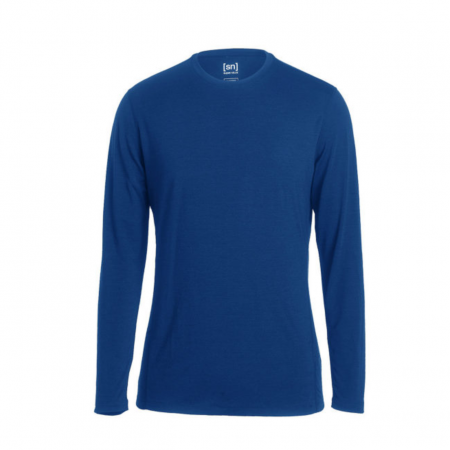 Merino-Langarmshirt-Shirt-super-natural-BASE-LS-175-blau
