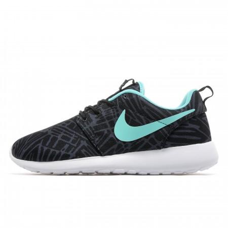 Nike-Roshe-One-Sneaker-Print-Womens-Black-Hyper-Turquoise