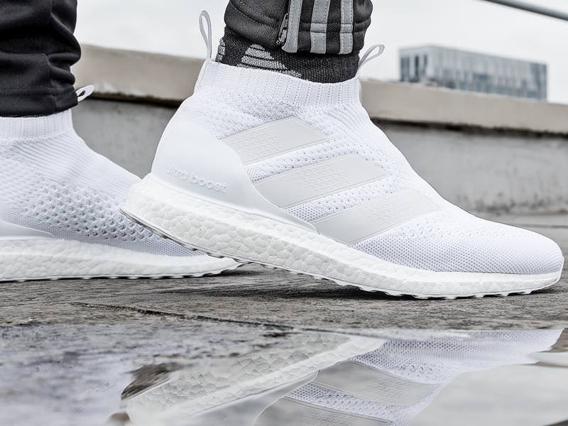 separation shoes baed1 0dd51 adidas ACE 16+ PURECONTROL UltraBOOST Triple White Sneaker