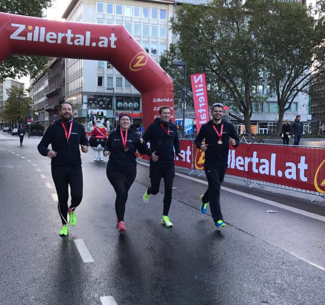 Frankfurt Marathon Staffel Mit Dem Zillertal Auf Der Rekord Strecke