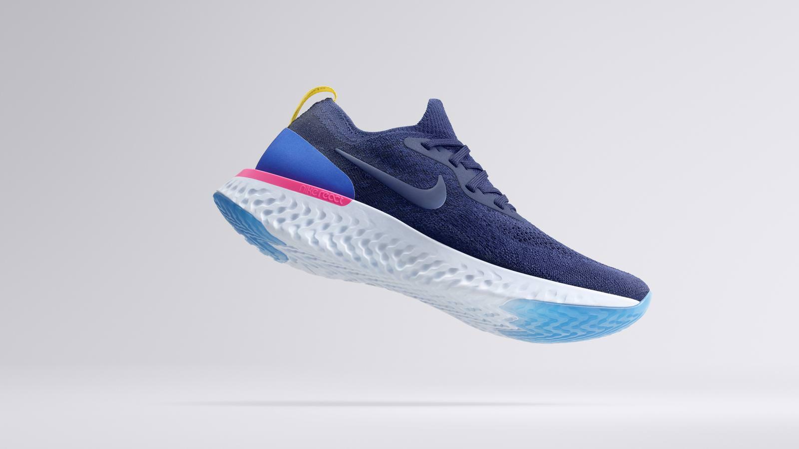 110ea9a33780ad Mit dem Nike Epic React Flyknit will Nike nun endlich wieder mit einem  neuen Sohlenkonzept punkten und stellt ein Dämpfungssystem vor