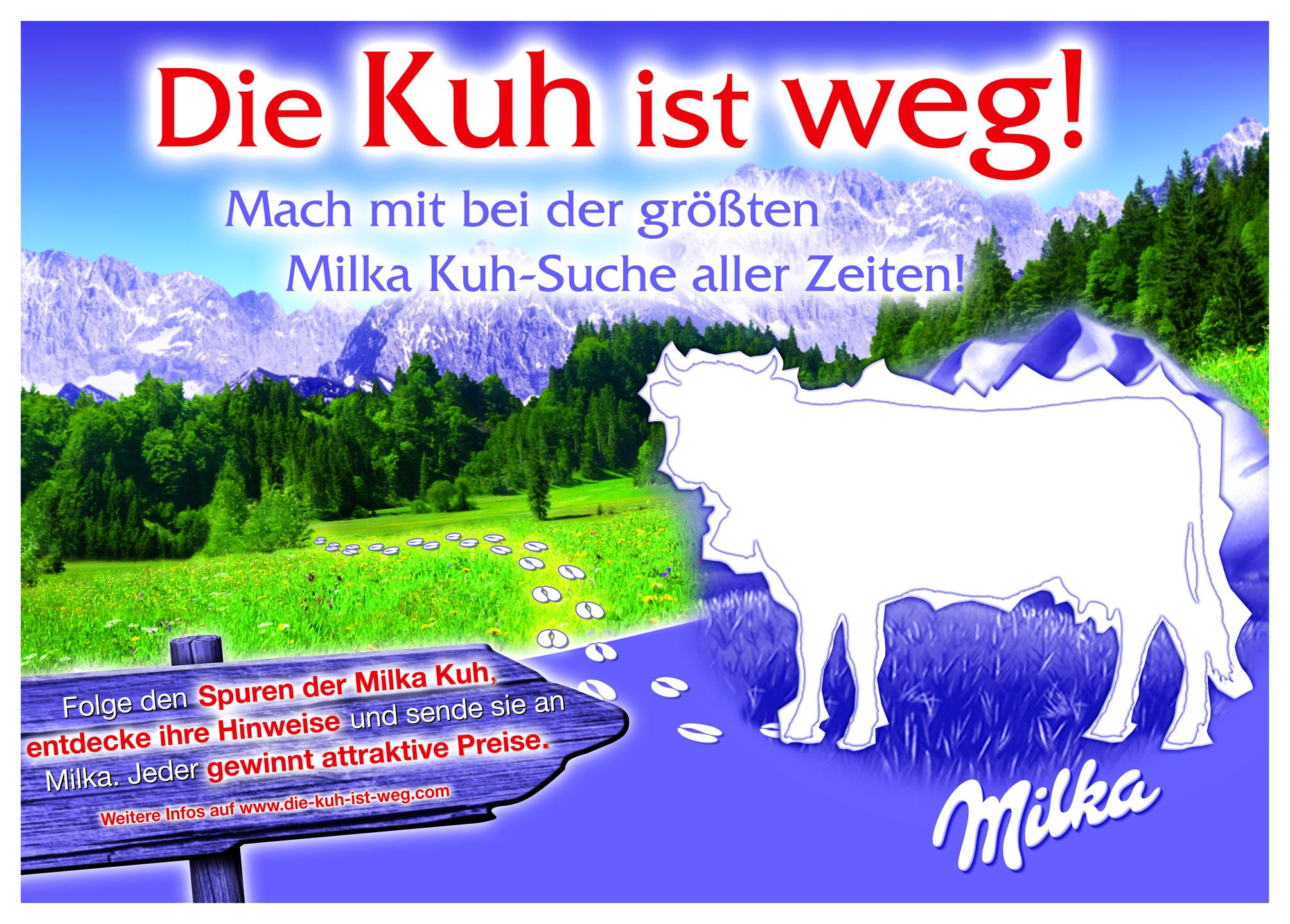 Milka - Aktion die Kuh ist weg