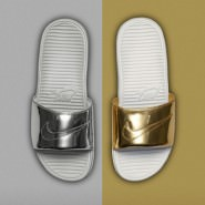"Adilette vs. Nikelette ""Liquid Metal""-Pack"