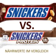Snickers & Mars Protein Riegel im Nährwerte Test - Naschen für die Fitness