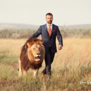 Wenn Löwen Fußball spielen